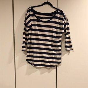 Gap 3 Quater Sleeve Stripped Shirt